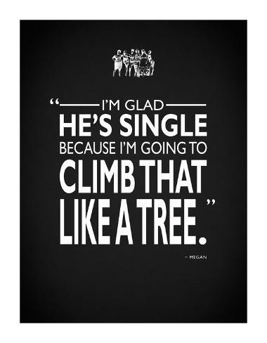 Bridesmaids Climb Like A Tree Giclee-trykk