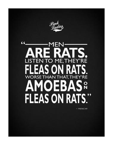 Grease Men Are Rats Giclée-tryk