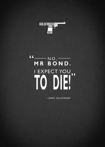 JB Goldfinger Expect To Die Trykk på strukket lerret