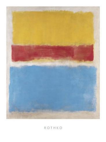 Untitled (Yellow, Red and Blue), c.1953 Kunsttryk