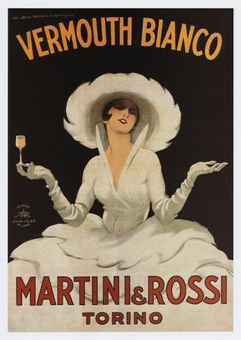 Martini Rossi Vermouth Bianco Kunsttrykk