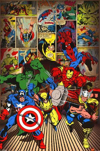 Marvel-Here Come the Heroes Plakat