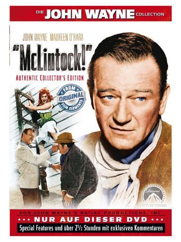 McLintock, German Movie Poster, 1963 Kunsttrykk