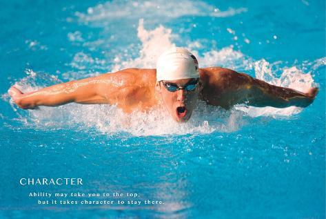 Michael Phelps Motivational Poster Plakat