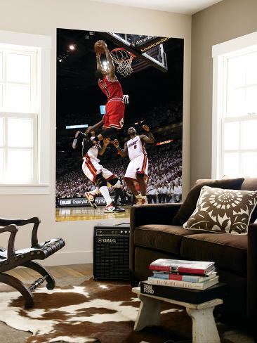 Chicago Bulls v Miami Heat - Game FourMiami, FL - MAY 24: Derrick Rose, LeBron James and Udonis Has Giant Art Print