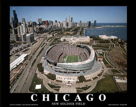 Chicago Bears New Soldier Field Sports Kunsttrykk