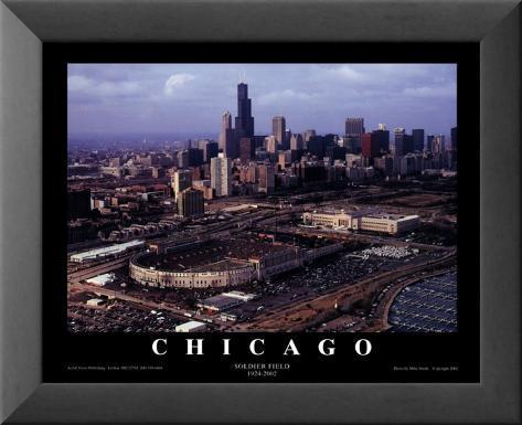 Chicago: Soldier Field, Chicago Bears Laminert kunsttrykk i ramme