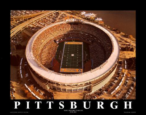 Three Rivers Stadium - Pittsburgh, Pennsylvania Kunsttrykk