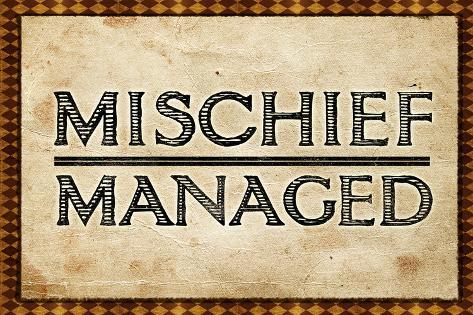 Mischief Managed Movie Print Poster Plakat