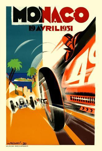 Monaco Grand Prix, 1931 Kunsttrykk
