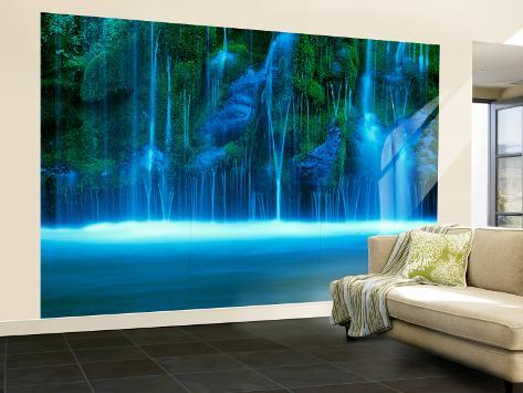 Mossbrae Falls, Vandfald, Sacramento-floden, Shasta Cascade, Dunsmuir, Californien, USA Vægplakat, stor