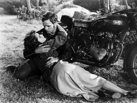 Scene from The Wild One with Marlon Brando Foto