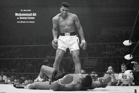 Muhammad Ali mod Sonny Liston Plakat