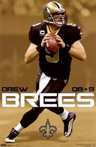 New Orleans Saints - Drew Brees Plakat