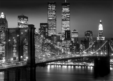 New York-Brooklyn Bridge Gigantplakat