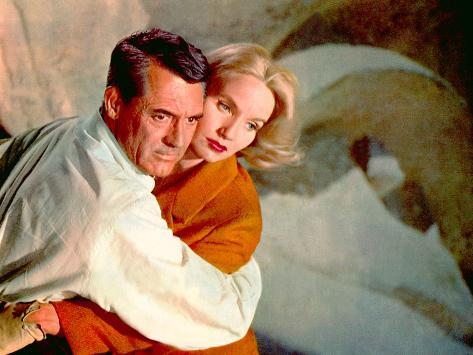 North By Northwest, Cary Grant, Eva Marie Saint, 1959, Clinging Foto