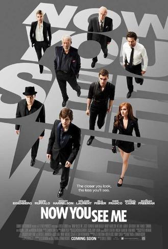 Now You See Me (Jesse Eisenberg, Mark Ruffalo, Woody Harrelson) Movie Poster Mestertrykk