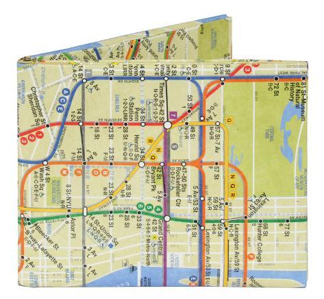 NYC New York City Subway Map Mighty Wallet Pung