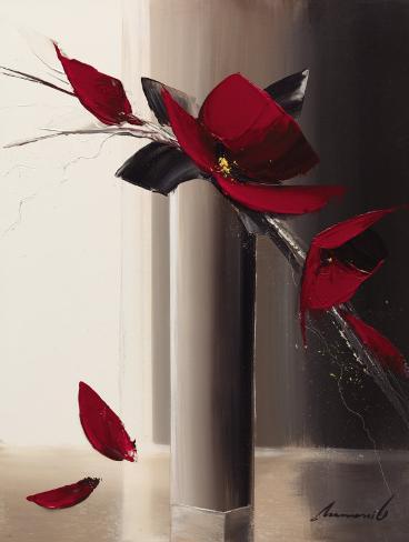 Bouquet Rouge I Kunsttrykk