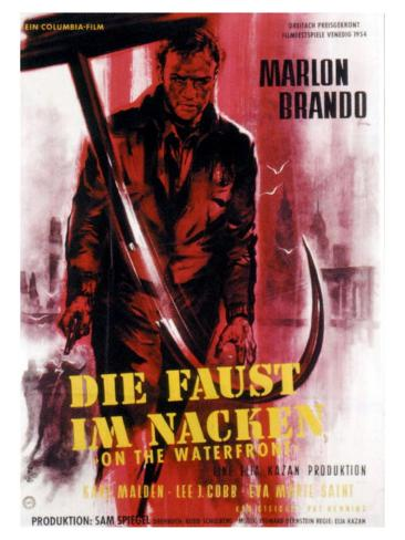 On the Waterfront, German Movie Poster, 1954 Kunsttryk