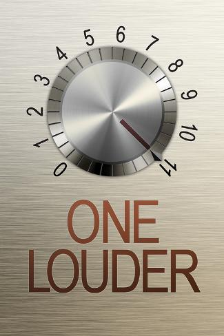 One Louder These Go to 11 Music Poster Plakat