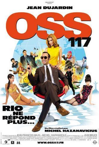 OSS 117: Rio ne Repond Plus - French Style Plakat