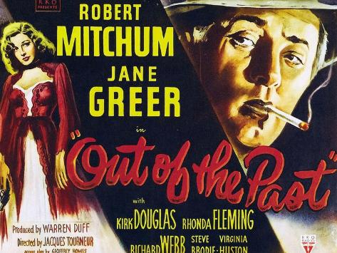 Out of the Past, UK Movie Poster, 1947 Premium Giclée-tryk