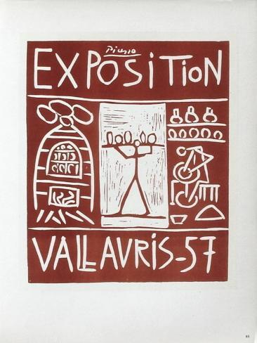 AF 1957 - Exposition Vallauris Samlertryk