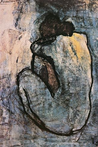Blå nøgenmodel, ca. 1902 Plakat