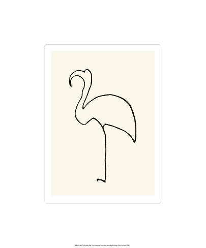 Den lyserøde flamingo Serigrafi (silketryk)