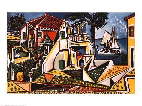 Middelhavslandskab Kunsttryk
