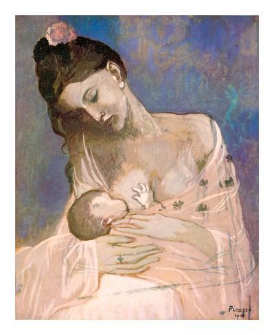 Mor og barn Kunsttryk