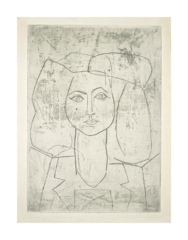 Portrait of Francoise, dressed... Kunsttryk