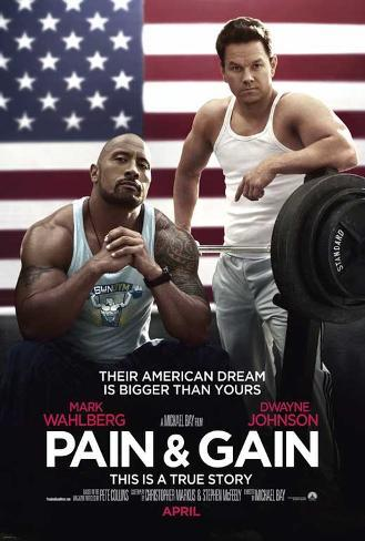 Pain and Gain (Mark Wahlberg, Dwayne Johnson, Anthony Mackie) Movie Poster Mestertrykk