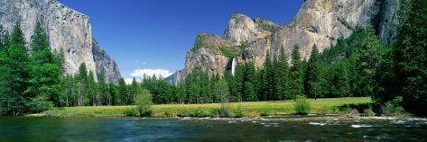 Bridal Veil Falls, Yosemite National Park, California, USA Fotografisk tryk