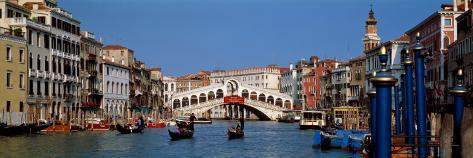 Bridge across a Canal, Rialto Bridge, Grand Canal, Venice, Veneto, Italy Wallstickers