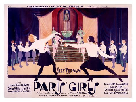 Paris Girls Giclee-trykk