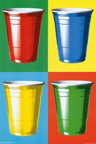 Party Cups Pop Art Plakat