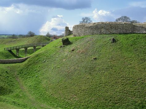 Castle at Castle Acre, Norfolk, England, United Kingdom, Europe Fotografisk trykk