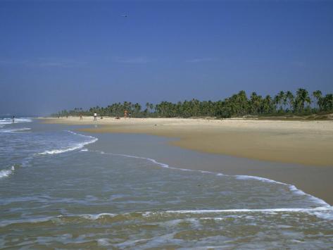 Colva Beach, Goa, India Fotografisk trykk