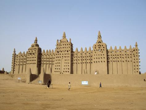 Great Mosque, the Largest Dried Earth Building in the World, Djenne, Mali Fotografisk trykk