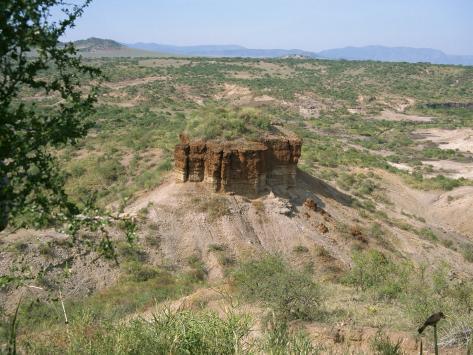 Olduvai Gorge, UNESCO World Heritage Site, Serengeti, Tanzania, East Africa, Africa Fotografisk trykk