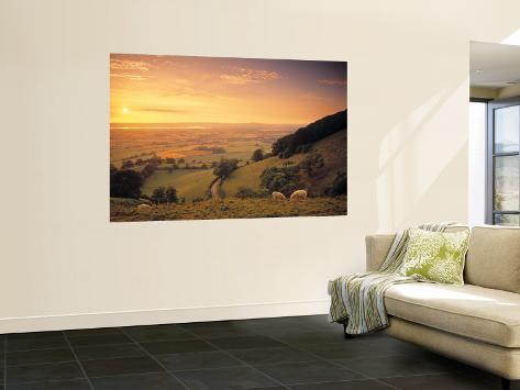 Coaley Peak, Dursley, Cotswolds, England Veggmaleri