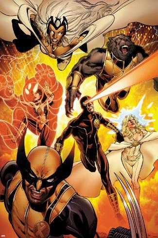 Astonishing X-Men No.35: Storm, Cyclops, Armor, Beast, Wolverine, Frost Plakat