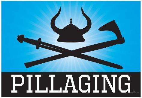 Pillaging Blue Poster Print Plakat