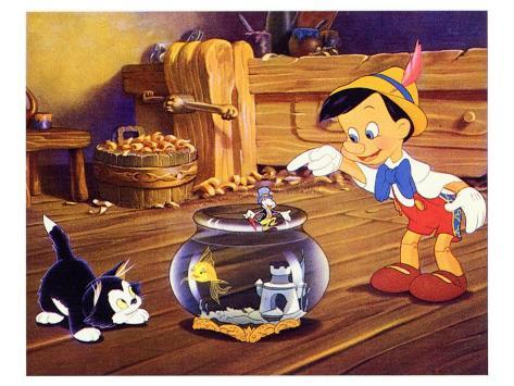 Pinocchio, 1940 Kunsttrykk