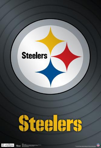 Pittsburgh Steelers Logo Nfl Sports Poster Plakat