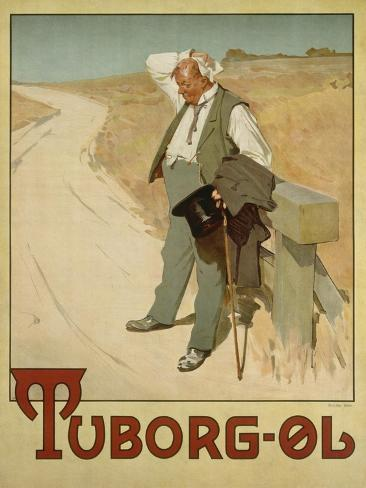 Advertising Poster for Tuborg Beer, 1900 Giclée-tryk