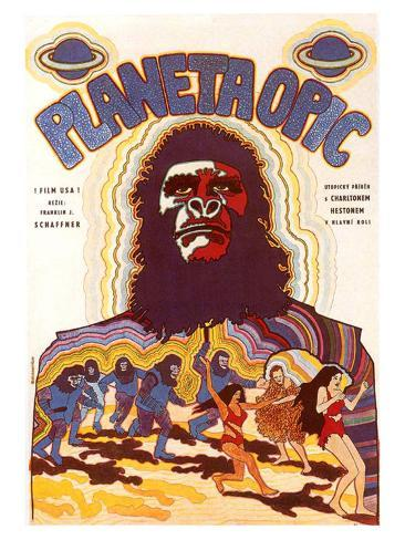 Planet of the Apes, Czchecoslovakian Movie Poster, 1968 Kunsttrykk