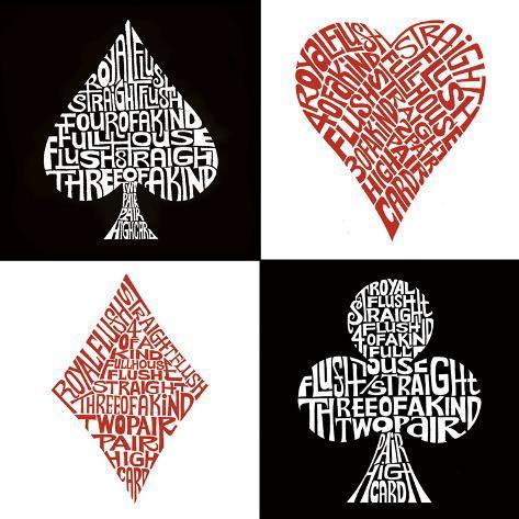 Poker Hands Kunsttryk